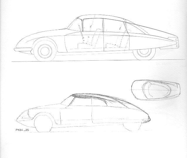 Primeros bocetos de Bertoni