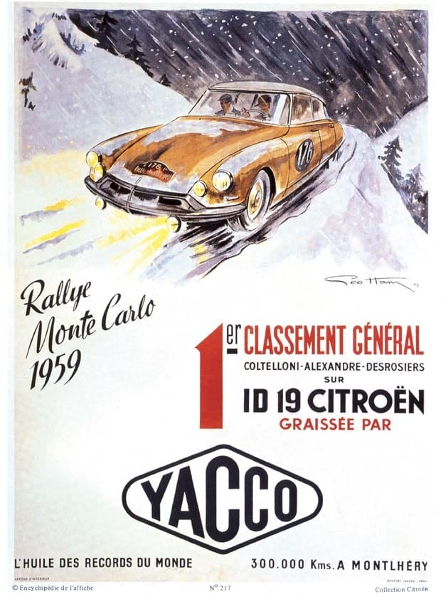 Victoria en Rally de Montecarlo - 1959