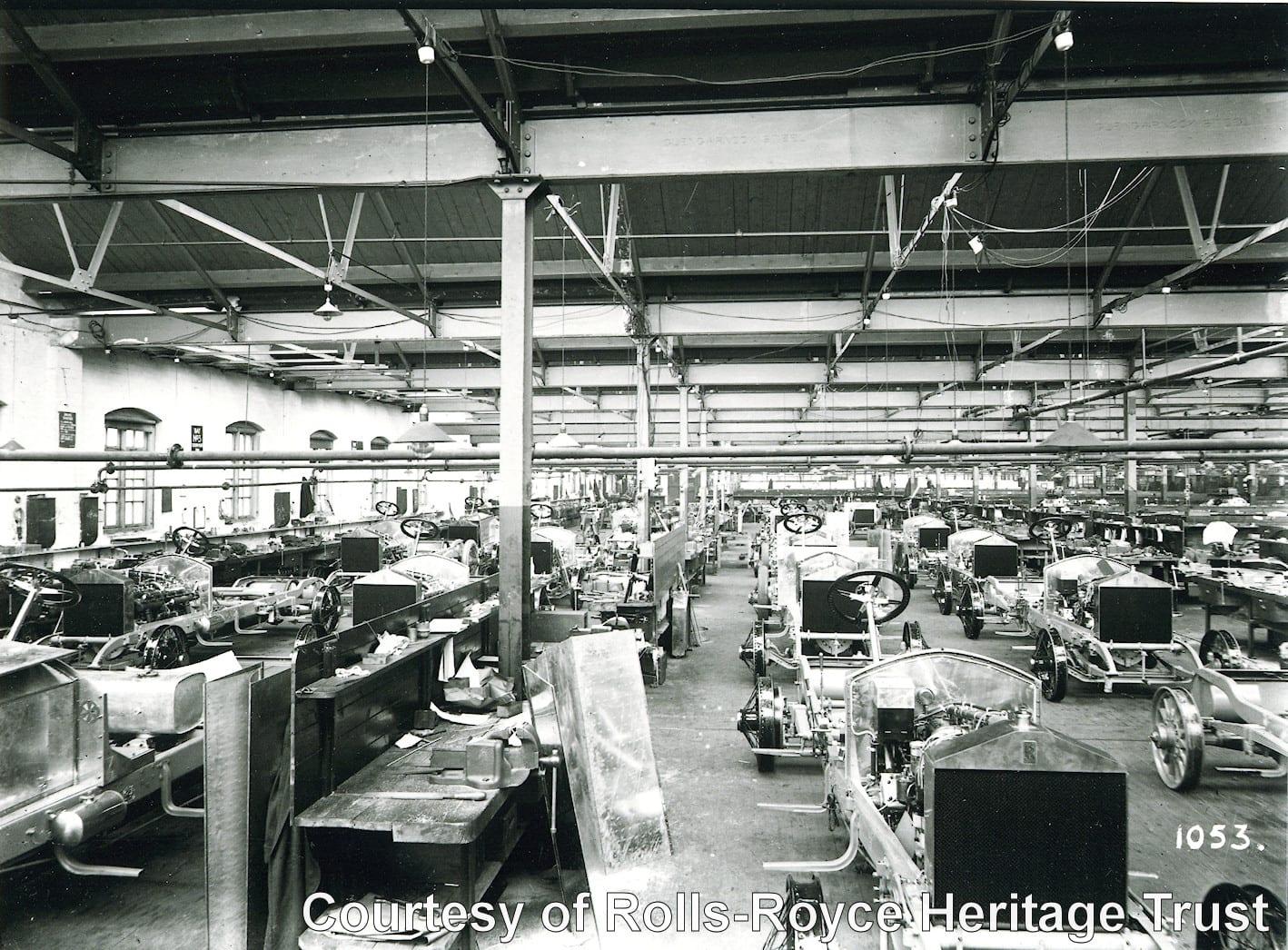 Interior de la fábrica de Derby
