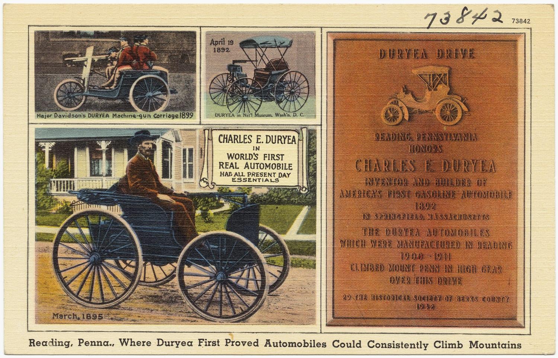 Primer anuncio de coches en 1895