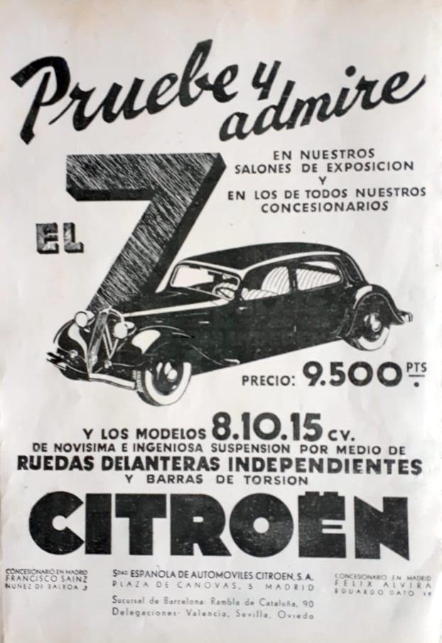 Publicidad Citroen - 1934