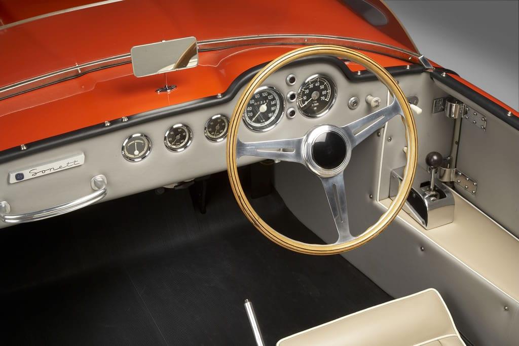 El Saab Sonett - Interior de un modelo Super Sport